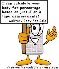This is a link for a great calculator used by military to calculate body fat percentage without the use of calipers.  I think it is pretty accurate  and is very close to my caliper measurement.