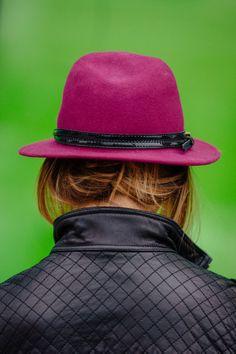 Stride in Stripes: Stride in Stripes: #katespadeny // leopard shoes #samedelman petty #zappos // purple hat #mickey'sgirl // quilted leather jacket #calvinklein // stripe dress #mickey'sgirl // studded socks #jcrew