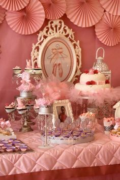 Pink Ballerina Birthday Party via Kara's Party Ideas | Kara'sPartyIdeas.com #Ballet #PartyIdeas #Supplies #Girl #Pink (13)