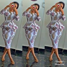 Are you Looking for the Best SHORT COLORED SKIRTS& Blouse Styles? we have some lovely selected of Short Ankara skirt and b Unique Ankara Styles, Ankara Dress Styles, Ankara Gowns, Blouse Styles, African Dresses For Women, African Print Dresses, African Fashion Dresses, Ankara Fashion, African Prints