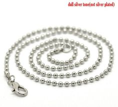 24 46cm Silver Tone Lobster Clasp Ball Chain by aliyafang on Etsy, $12.80