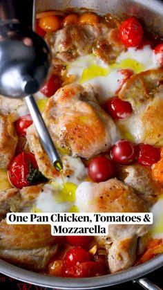 Low Carb Recipes, Cooking Recipes, Healthy Recipes, Mozzarella, Comida Keto, Pasta, Le Diner, Food Dishes, Love Food