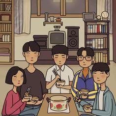New post on anna--adore Park Bo Gum Reply 1988, Kdrama, Korean Art, Cute Cartoon Wallpapers, Illustrations, Aesthetic Art, Cartoon Art, Cute Drawings, Cute Illustration