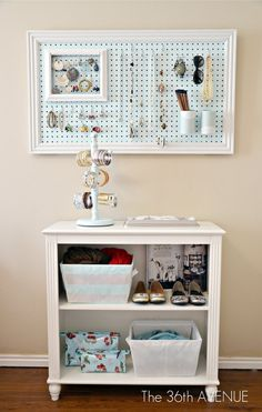 DIY Peg Board and Accessories Station; this will be perfect for my dorm room gotta-try-this-some-time