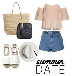 """""""fun in the sun ♡"""" by sophiethang ❤ liked on Polyvore featuring Glamorous, Target, Calypso Private Label, beach and summerdate"""