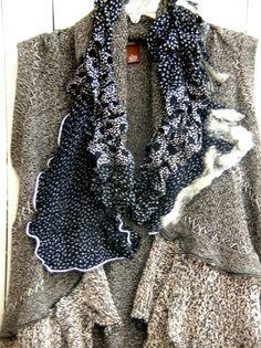 Reconstructed Sweater Vest Nuno Felt by JacketsbyJahne on Etsy