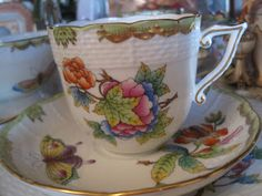 Herend's Queen Victoria tea cup and saucer