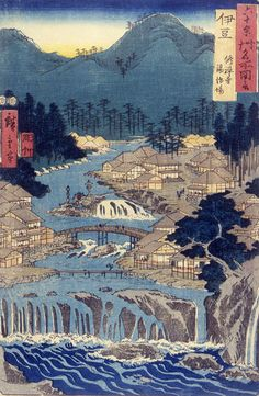 From Series:60 Or More Provinces 1853  Hiroshige, Ando Japanese (1797-1858) Weatherspoon Art Museum