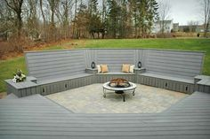 Cool Fire Pit Deck