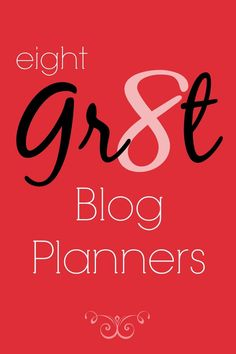 A great collection of blog planners to help you stay organizes.
