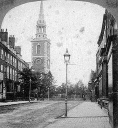 St Mary's Church, Islington, c 1870 Victorian Life, Victorian London, Vintage London, Old London, East London, London History, Local History, London Pictures, London Photos