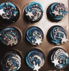 Image result for night under the stars cupcake