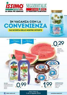 Offerte valide dal 1 al 14 agosto 2016 in tutti i supermercati ISSIMO della regione Campania.  Visualizza il volantino cliccando sulla rispettiva immagine. Se vuoi scaricalo per averlo sempre a portata di mano sul tuo smartphone.  http://ift.tt/2aNXglN