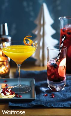 Try our winter warmer punch for the ultimate New Year's Eve cocktail - guests will love it! Find even more cocktail recipes on the Waitrose website. New Year's Eve Cocktails, Classic Cocktails, Holiday Cocktails, Smoothies For Kids, Fruit Smoothies, Happy Drink, Dont Drink And Drive, Healthy Food Choices, Winter Warmers