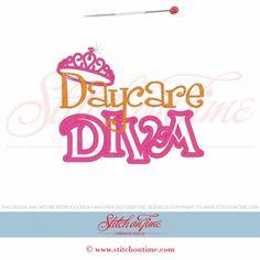 71 School : Daycare Diva Applique 5x7