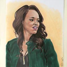 Candice Patton Iris West Flash Artwork, drawing, fanart, comics DC comics