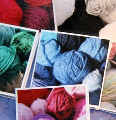Balls of wool mini photo Cards or Gift Tags or by SandrasCardShop, $5.00