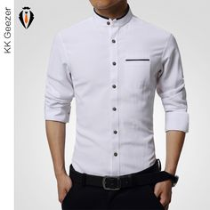 shirt up on sale at reasonable prices, buy High quality Mens Dress Shirt Long Sleeve Cotton Male Business banquets Brand Fashion Formal Shirts Slim men casual soft shirts from mobile site on Aliexpress Now! Shirt Sleeves, Long Sleeve Shirts, Estilo Cool, Formal Shirts For Men, Formal Dresses For Men, Formal Wear, Men Dress, Shirt Dress, Tee Shirt