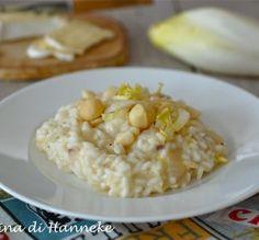 Risotto al brie, insalata belga e noci di macadamia