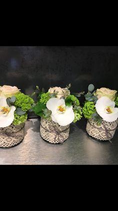 Centre de table avec orchidées, # mariage