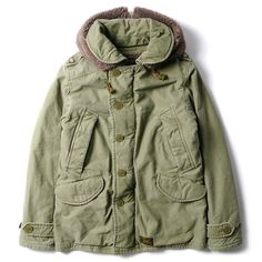 The jacket, first issued by the U. military during WWII, has been reinterpreted by WTAPS with new design elements that serve both functional and Rain Fashion, Fashion Wear, Mens Fashion, Military Looks, Military Style, Tactical Clothing, Cotton Jacket, Silk Jacket, Cool Jackets