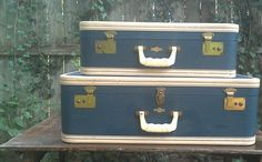 Vintage Luggage Set - http://oleantravel.com/vintage-luggage-set
