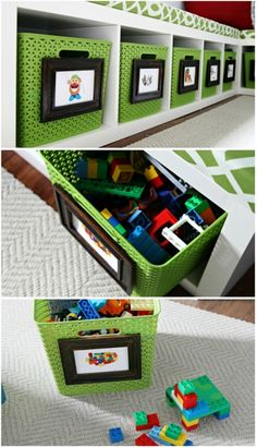 easy storage solution in the playroom!