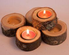 DIY WEDDING Rustic Wood Card Holders 12 logs | Etsy