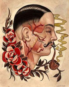 A Look Into Marie Sena's Creative Vintage Tattoos #popculture #tattoos trendhunter.com