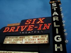 Starlight Drive-In Theatre (Atlanta, Georgia) - Ivan S. Drive Inn Movies, Drive In Movie Theater, Atl Movie, Ghosts Of Mars, Atlanta Attractions, Movies Under The Stars, Outdoor Theater, Good Drive, Georgia On My Mind