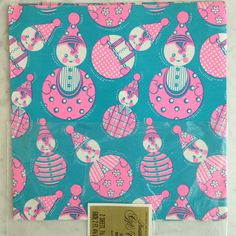 60s 70s Baby Shower Gift Wrap True Vintage Wrapping Paper