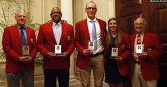 Six distinguished Terriers officially became members of the Boston University Athletic Hall of Fame as five standout athletes and the Hall's first-ever administrator comprised the 51st induction class on Saturday evening at the Metcalf Trustee Center.