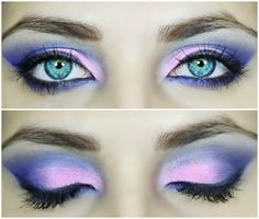 neon blue and pink