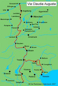 La Via Claudia Augusta: dal Po o dal Mare Adriatico fino al Danubio   #TuscanyAgriturismoGiratola