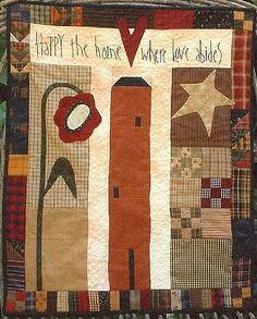 Happy The Home. Use a heart, cross, little people, kittie.