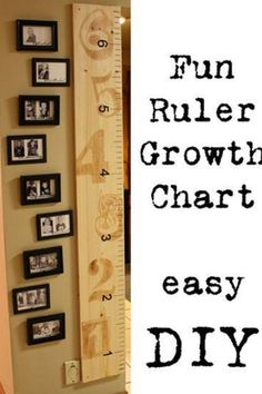 I love this idea. Plus it can always move with you and still track the kids' height!