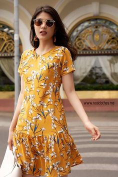 39 Summer Dresses For Ending Your Summer - Daily Fashion Outfits Simple Dresses, Casual Dresses, Short Dresses, Summer Dresses, Dresses With Sleeves, Elegant Outfit, Classy Dress, Modest Fashion, Fashion Dresses