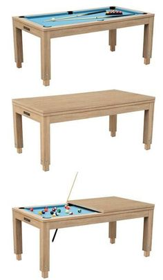 Very Cool Even Has Adjustable Legs So The Dining Table Isnt Too - Adjustable pool table