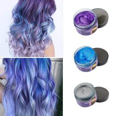 Temp Hair Color, Wash Out Hair Color, Hair Color Purple, Hair Dye Colors, Cool Hair Color, Blue Hair, Purple Hair Streaks, Purple Colors, Burgundy Hair