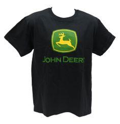 John Deere Front Chest Logo Black Tee Shirt