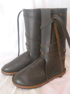 4c0a30116c5390 Leather boots hight - 30 cm. LederstiefelWikingerLederStiefel