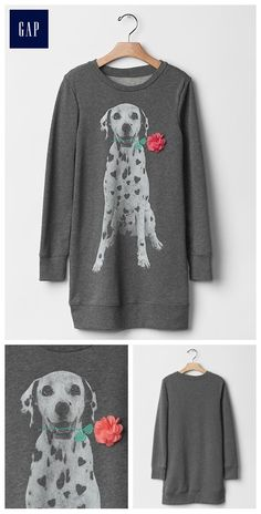 Embellished graphic sweatshirt dress