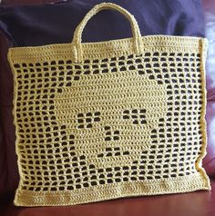 Bag I crocheted for my son.