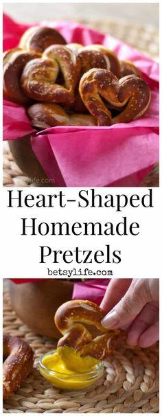Heart-Shaped Homemade Pretzels