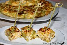 tortilla, calabacin, cebolla, recetas de tortilla de calabacin, Julia y sus recdetas