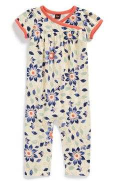 Tea Collection 'Art Naji' Flutter Sleeve Dress (Baby Girls) available at #Nordstrom