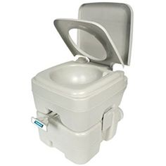 Camco Standard Portable Travel Toilet, Designed for Camping, RV, Boating And Other Recreational Activites (5.3 gallon) (41541)