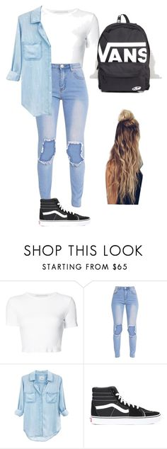"""Outfit #14"" by savannahdenise on Polyvore featuring Rosetta Getty, Rails and Vans"