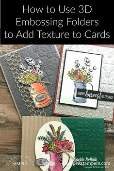 Want to see how cool it is to use 3D embossing folders to add texture to paper crafts, scrapbook pages, and handmade cards? Check it out at www.klompenstampers.com #embossing #dryembossing #papercrafts #scrapbooking #papercrafts #jackiebolhuis #klompenstampers #stampinupcards