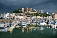 Storms gather over Torquay Harbour - Torbay